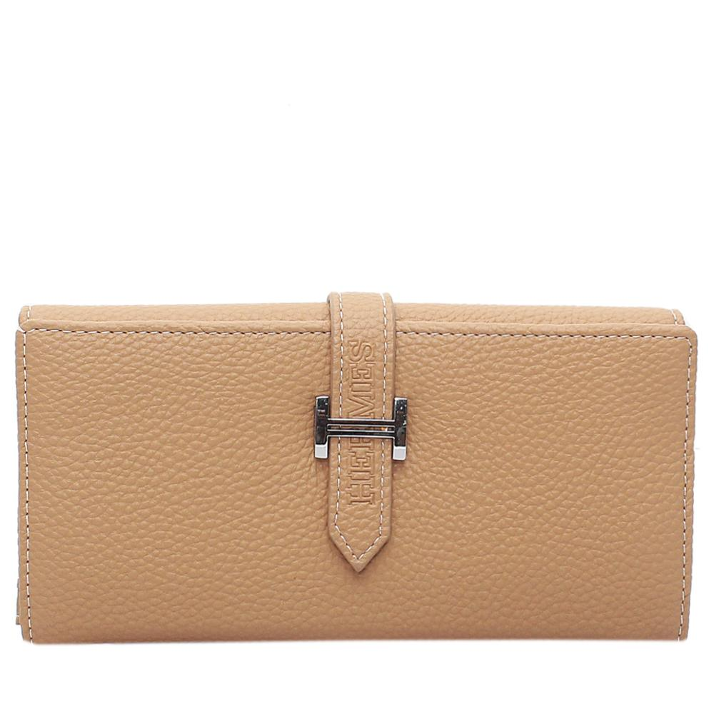 Camel Brown Leather Ladies Wallet