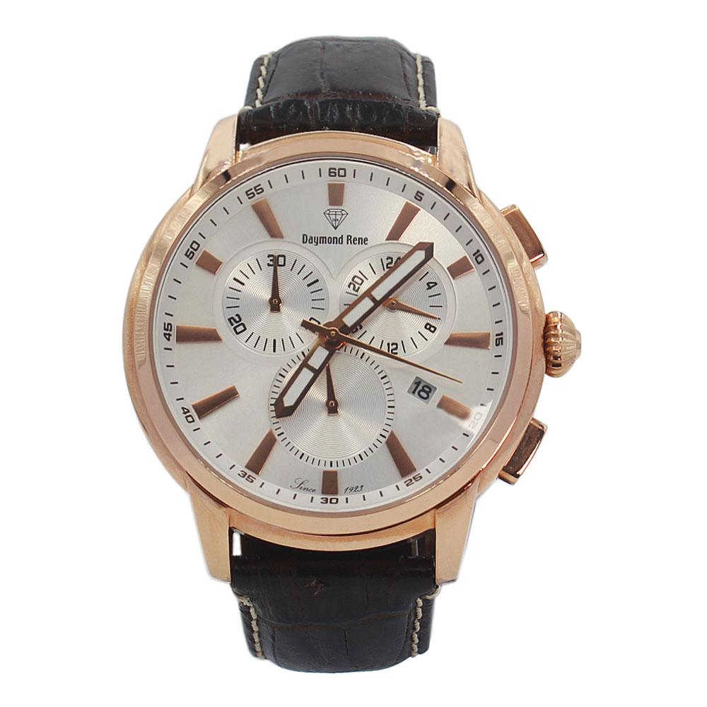 DR 5ATM Coffee Leather Pilot Watch