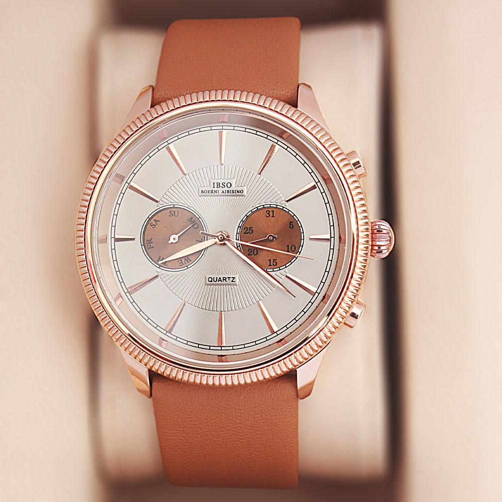 Navigator Brown Leather Watch