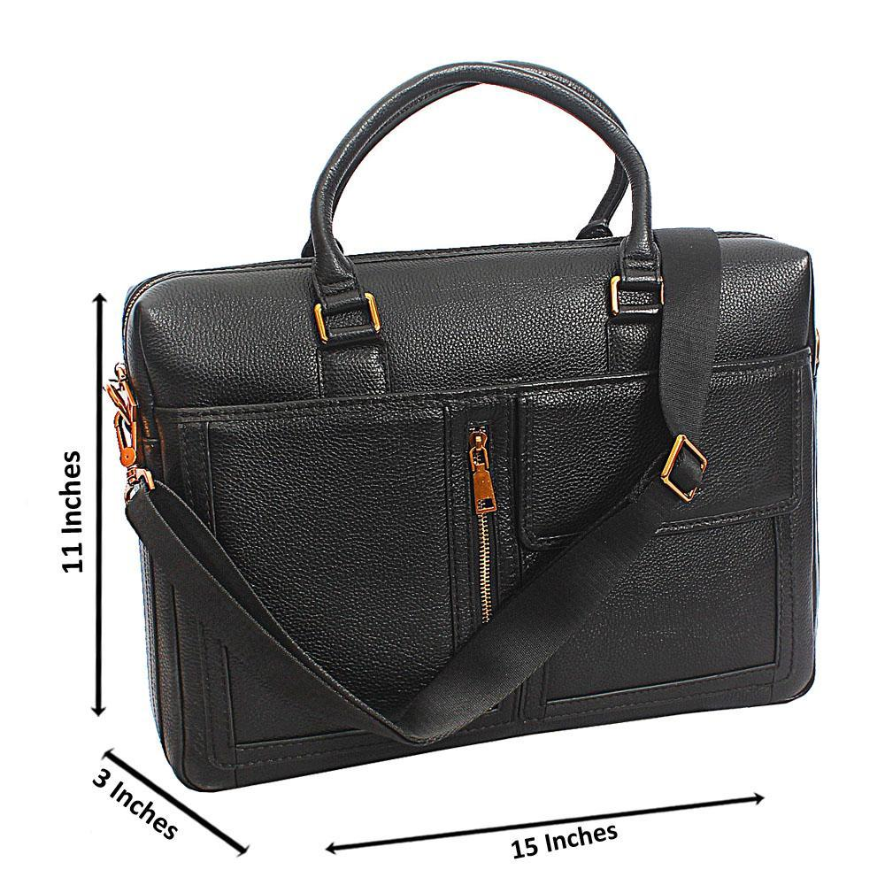 Black Kurts Top Grain Leather  Briefcase