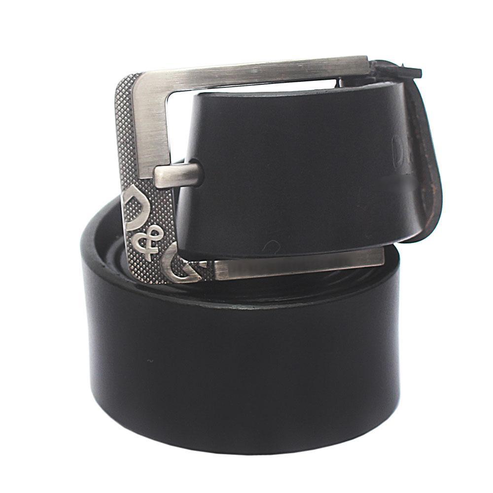 Black Premium Leather Belt L 46 Inches