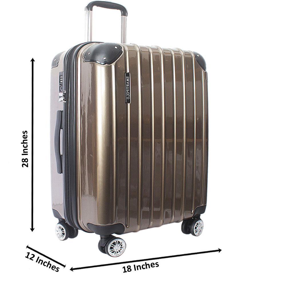 Brown 28 Inch Hardshell Large Suitcase Wt TSA Lock