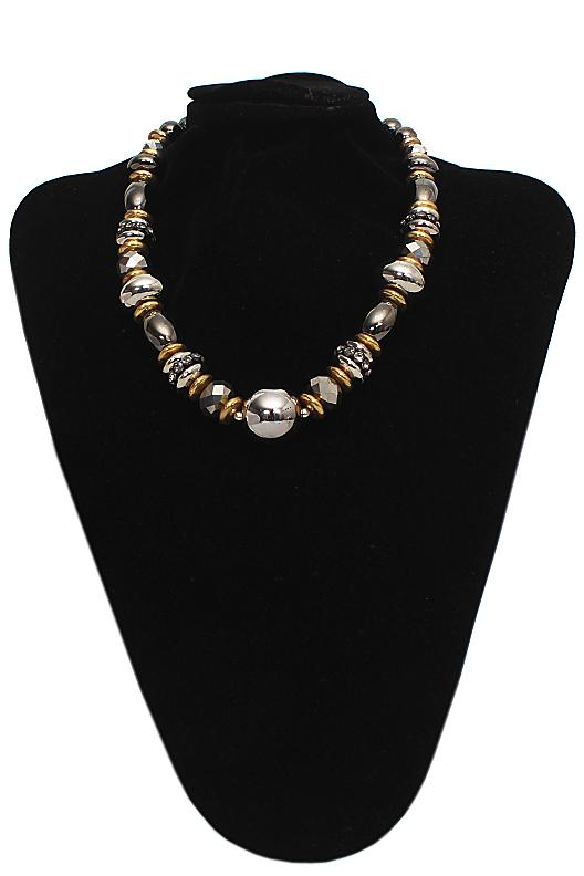Per Una Gold Black Pearl Necklace