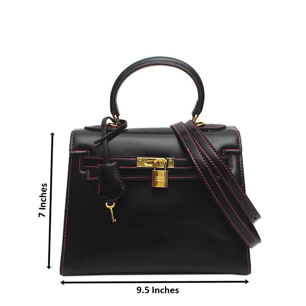 Black Leather Matte Birkin Bag