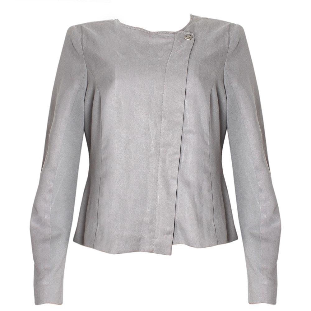 Per Una Gray Cotton L/Sleeve Ladies Jacket