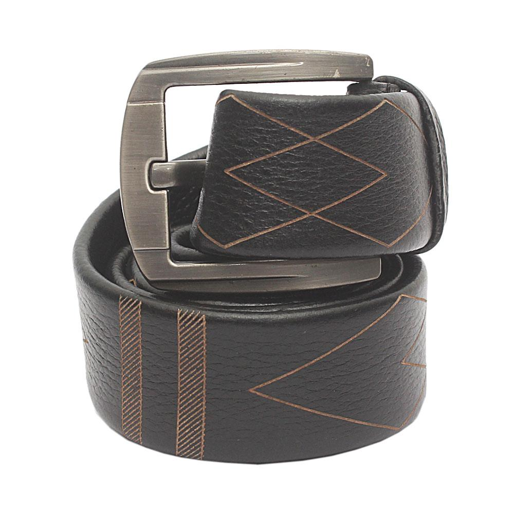Black Pattern Classic Belt L 48 Inches