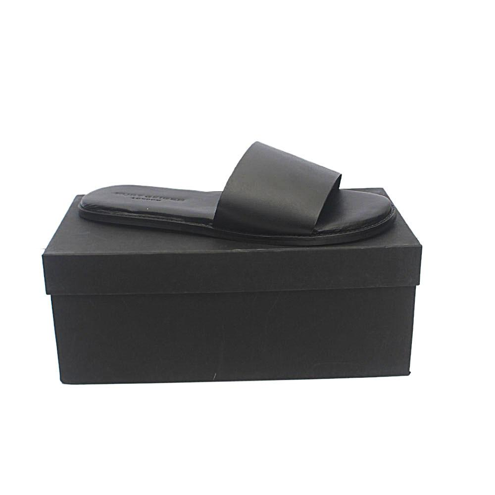 Kurt Geiger Bobby Black Premium Leather Slippers