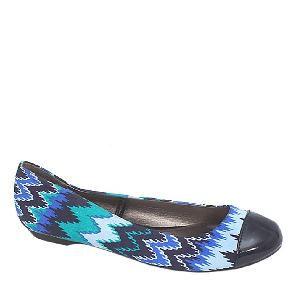 M & S Woman Multicolor Fabric Ladies Flat Shoe