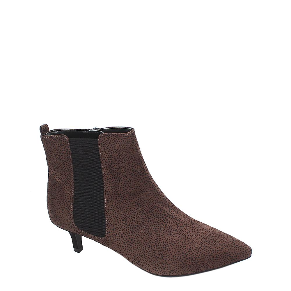 M&S Collection Brown Black Suede Leather Ladies Ankle Shoe