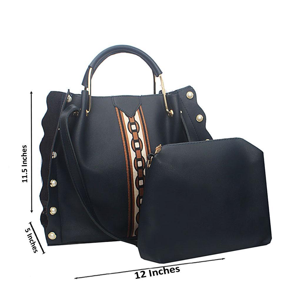 Navy Blue Safari Tandy Leather Handbag