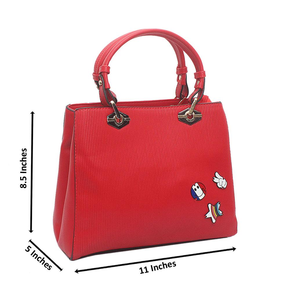 Red Ella Small Leather Handbag