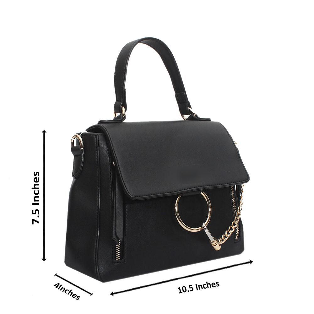 Black Leather Small Faye Day Bag