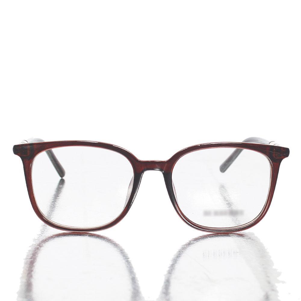 Brown Wayfarer Transparent Lens Glasses