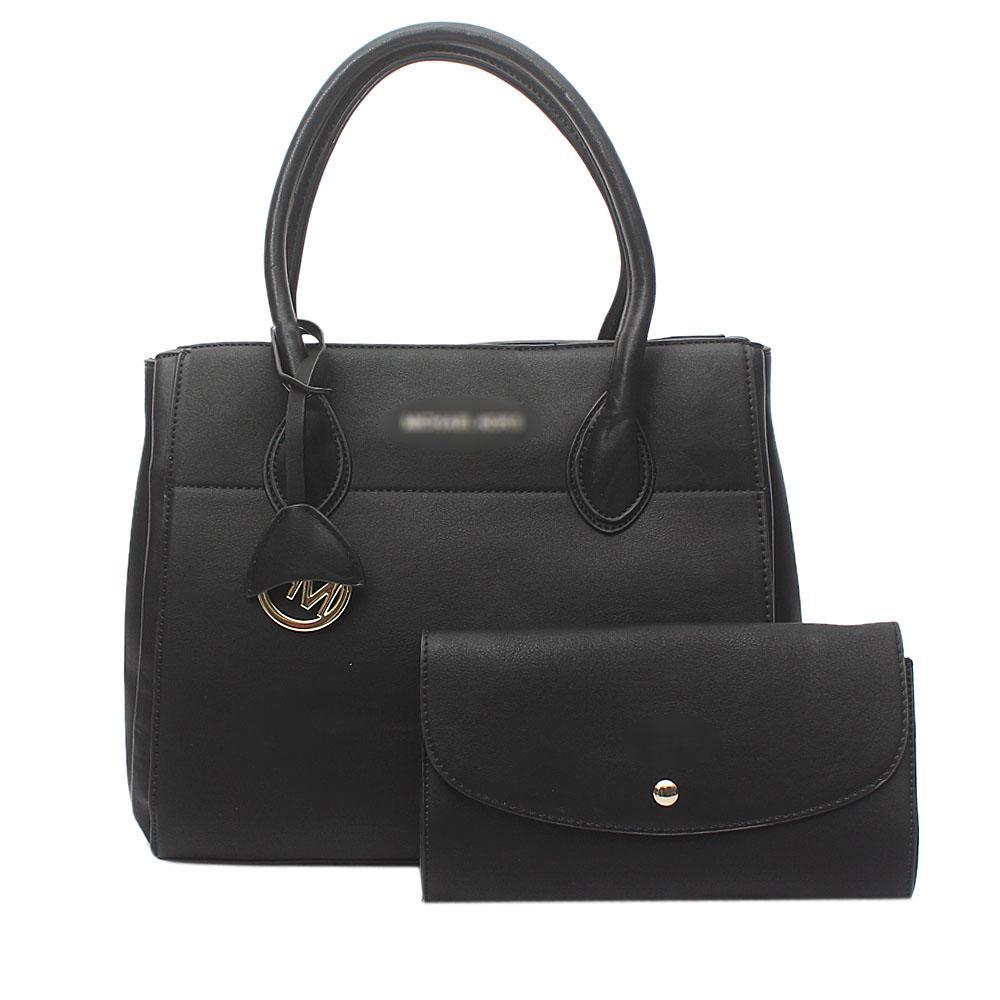 Black Leather  Tote Bag Wt Purse