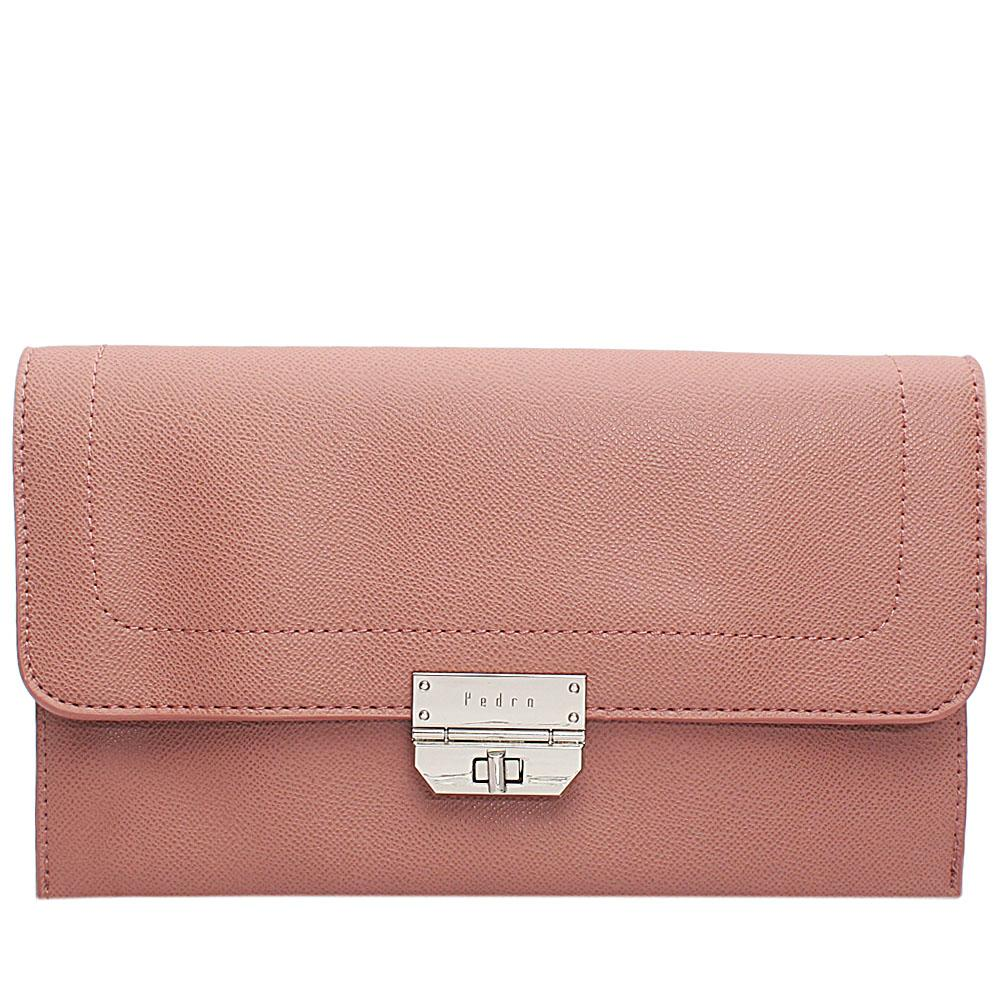 Pink Leather Flat Purse
