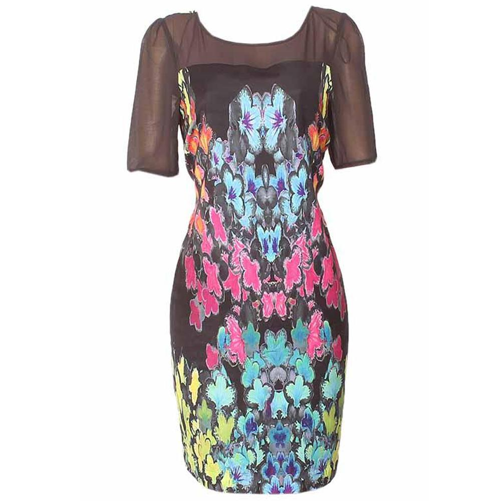 M&S Twiggy Multicolor Ladies Dress-Uk 12