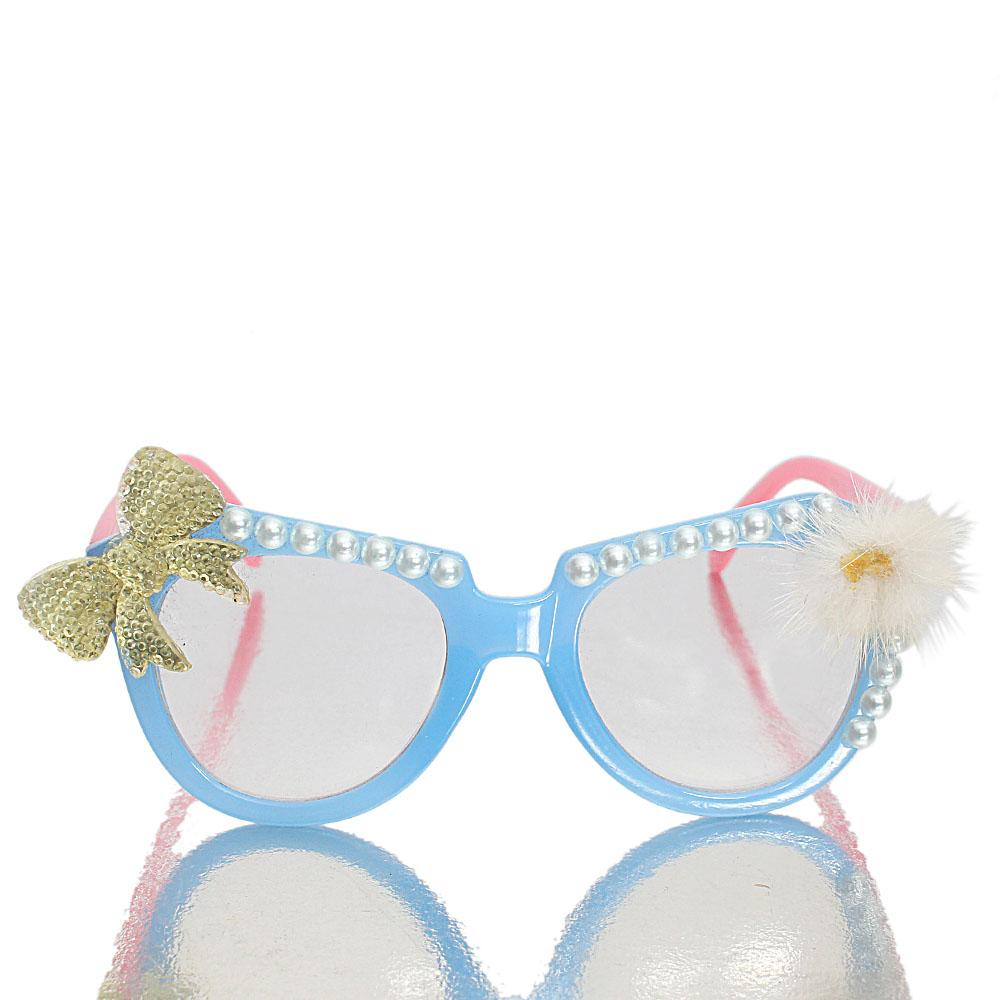 Blue Pink Cat Eye Plain Sunglasses