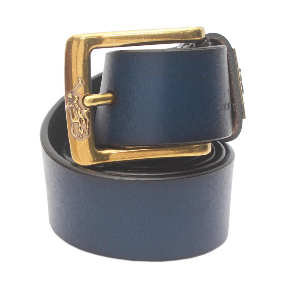 Navy Blue Premium Leather Belt L 50 Inches