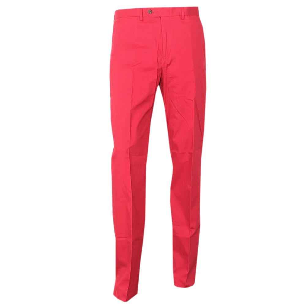Sartorial Regular Fit Red Rich Cotton Men Pant -W 34/L 40
