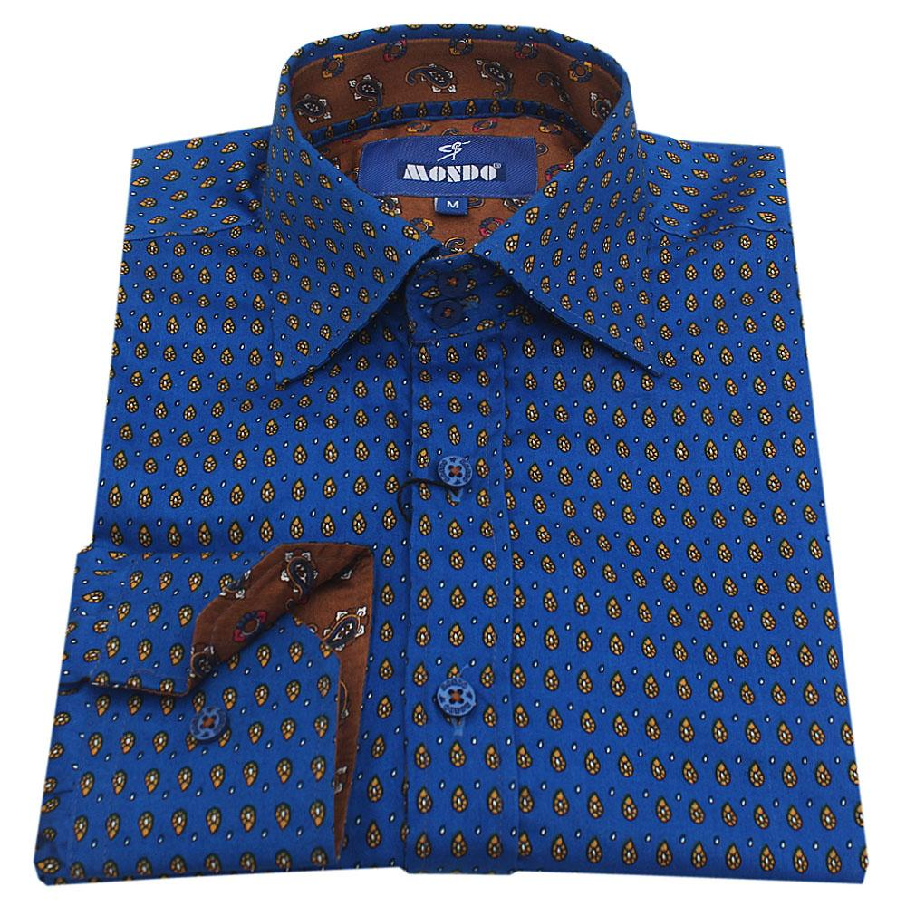 Mondo Blue Men L/Sleeve Slimfit Shirt