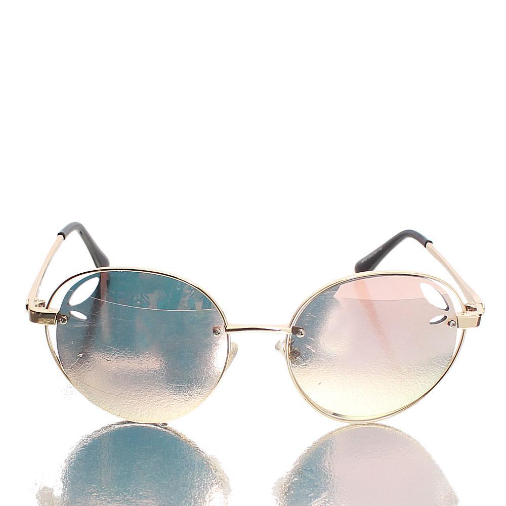 Gold Black Round UV Polarized Sunglasses