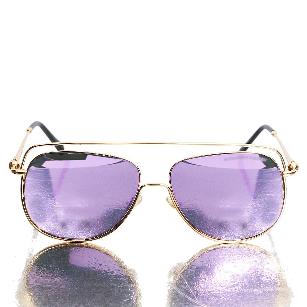 Rose Gold Pink Reflective Aviator Sunglasses