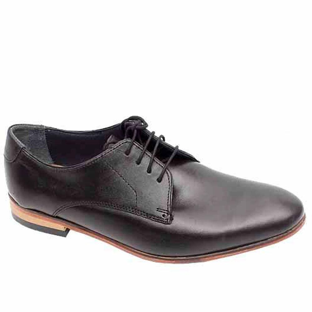 Collezione Black Leather Men Formal Shoe-Sz 47