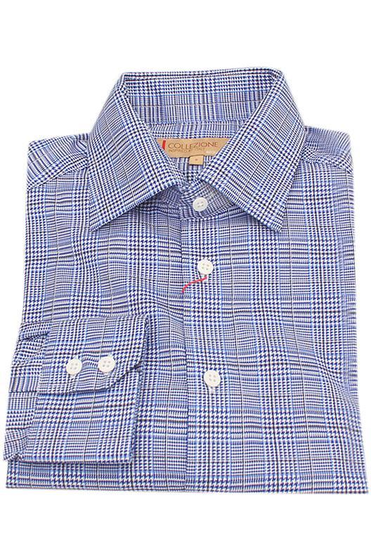 Collezione Blue White Regular Fit Men Shirt