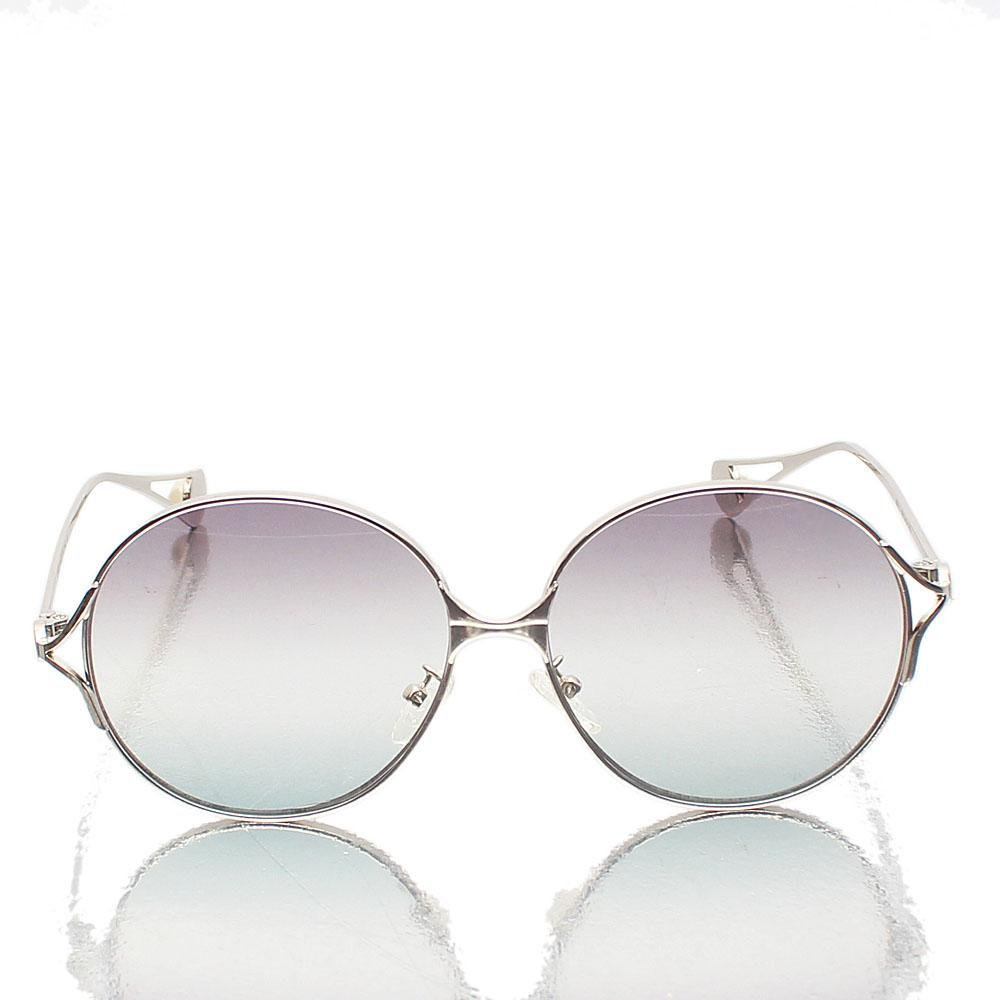 Silver Round Oversized Sunglasses