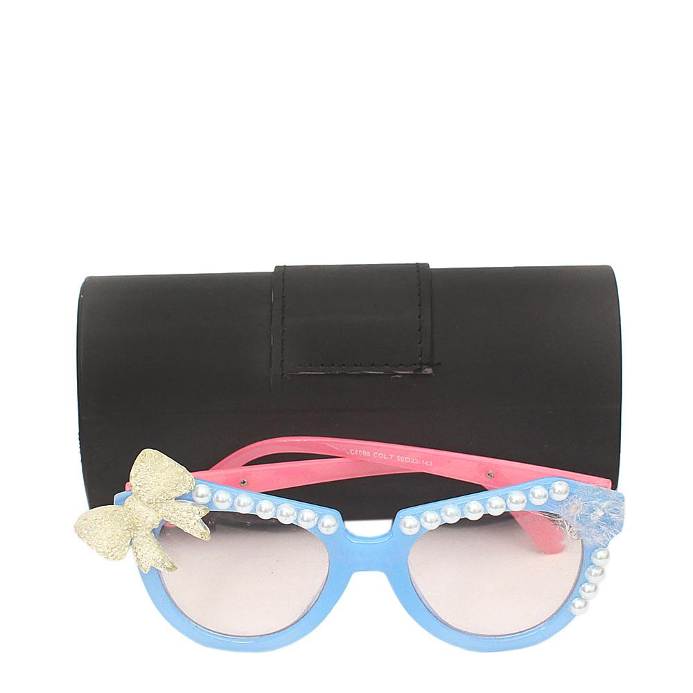 Dolce Blue Pink Cat Eye Plain Sunglasses