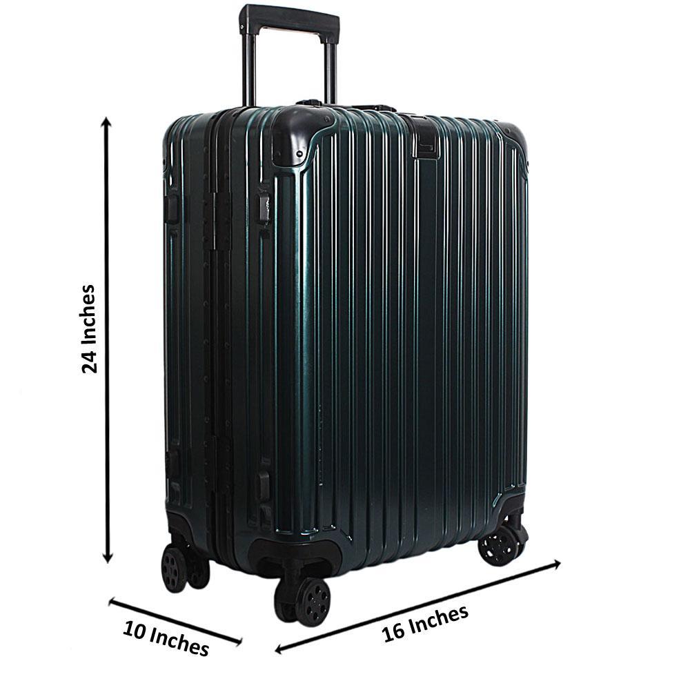 Green 24 Inch Hardshell Medium Suitcase Wt TSA Lock