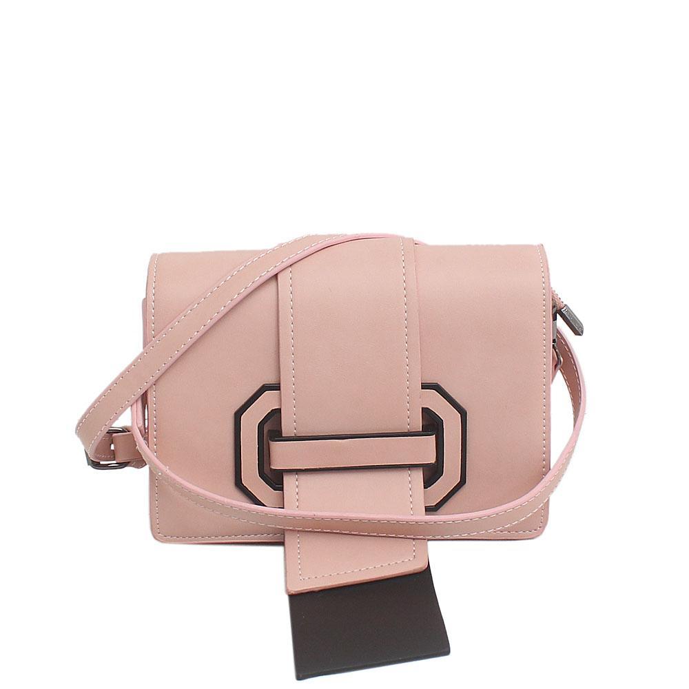 Pink  Leather Mini Cross Body Bag