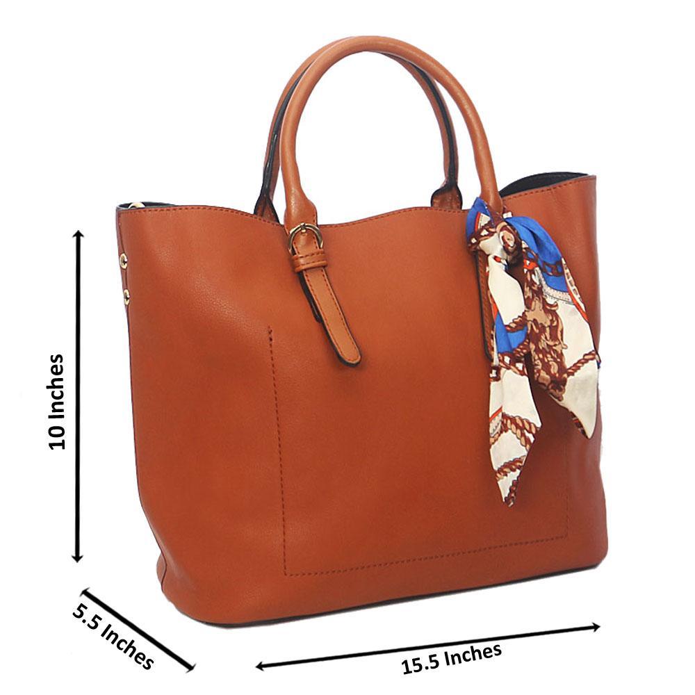 Brown Zoe Leather Tote Handbag
