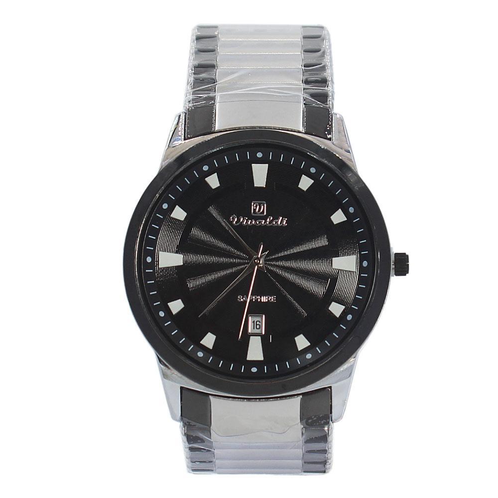 Silver Black Karstan Stainless Steel Fashion Watch