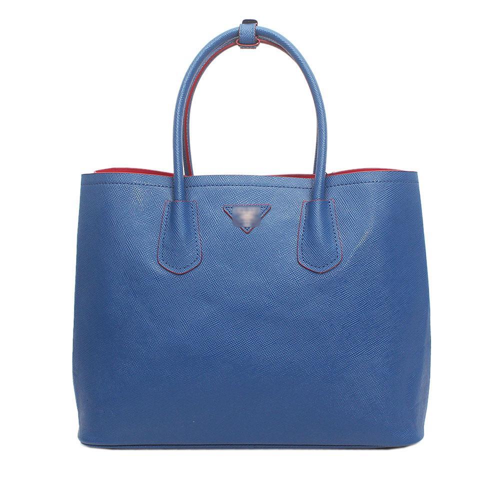 Milano Blue Leather Handbag