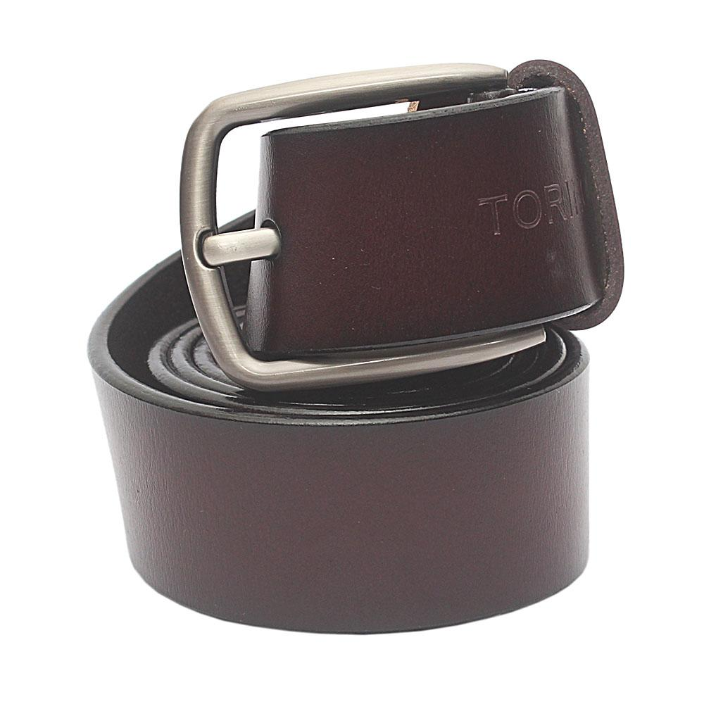 Coffee Brown Exotic Leather Belt L 52 Inches