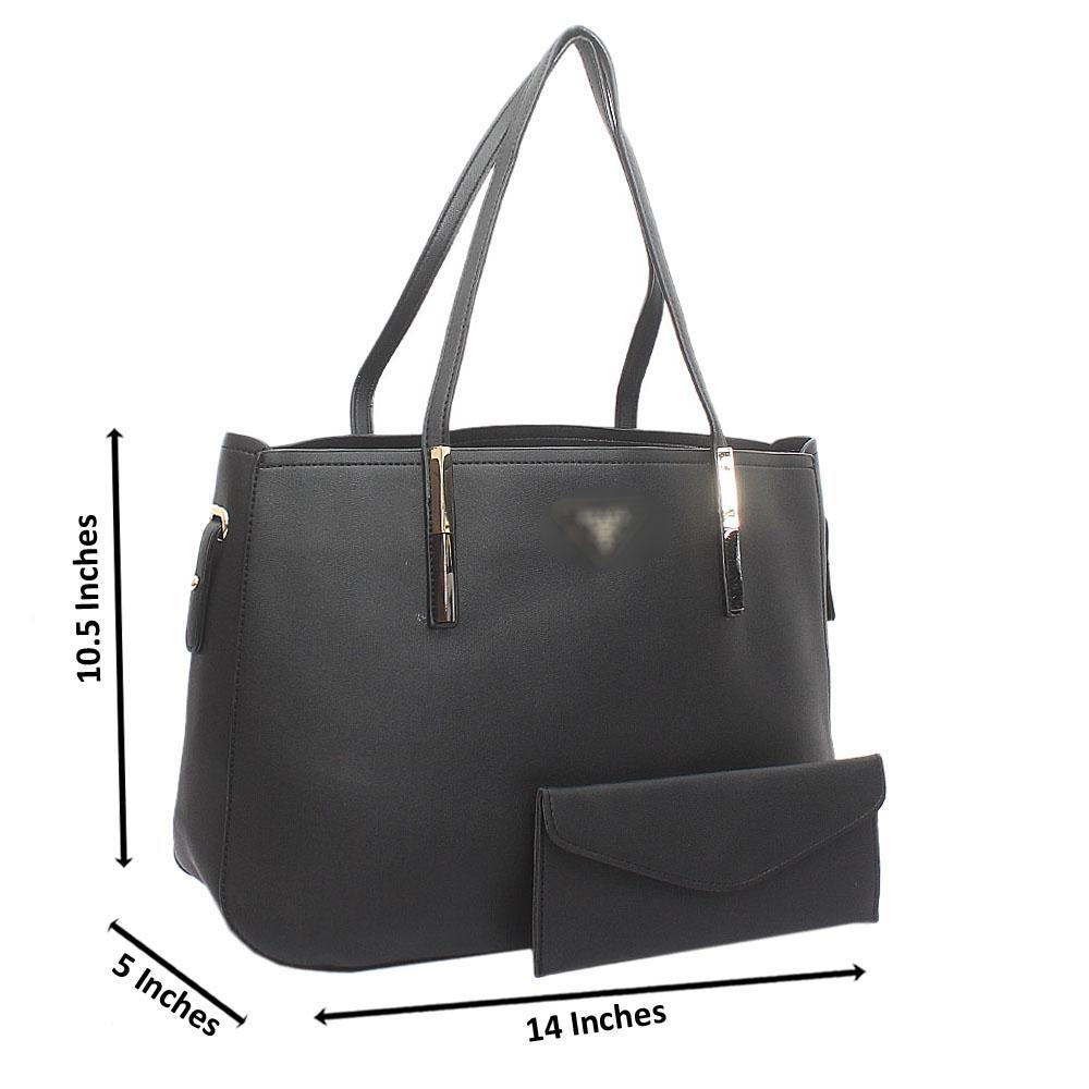 Black Milano Medium Leather Handbag