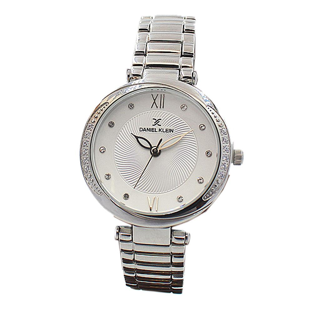 Daniel Klein Classic Silver Studded Stainless steel Ladies Watch
