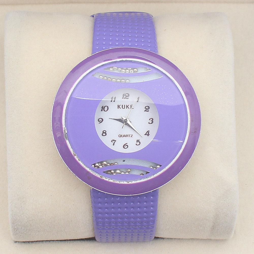 Kuke Purple Leather Ladies Watch