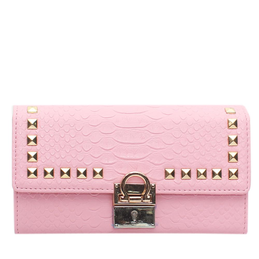 Pink-Leather-Ladies-Wallet