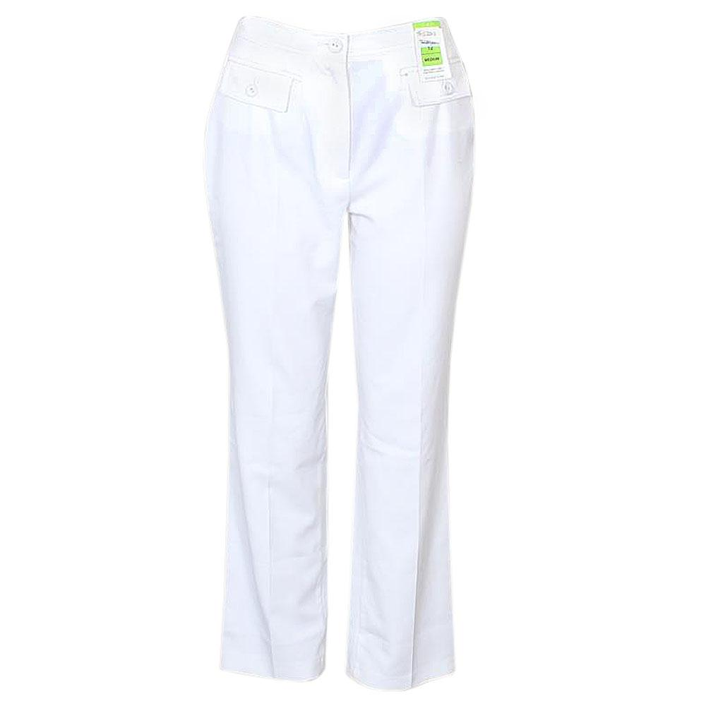M&S White Cotton Ladies Trouser-W30, L41