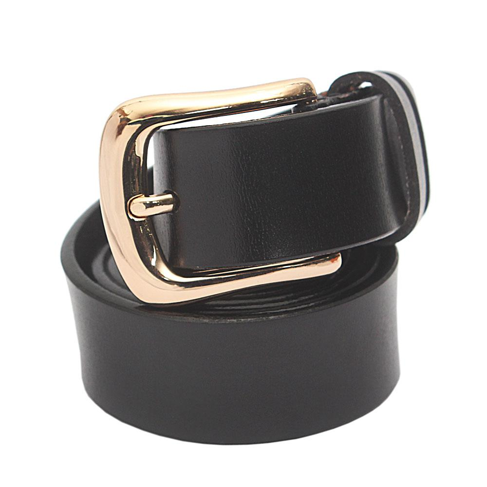 Black Premium Leather Ladies Belt L 44 Inches