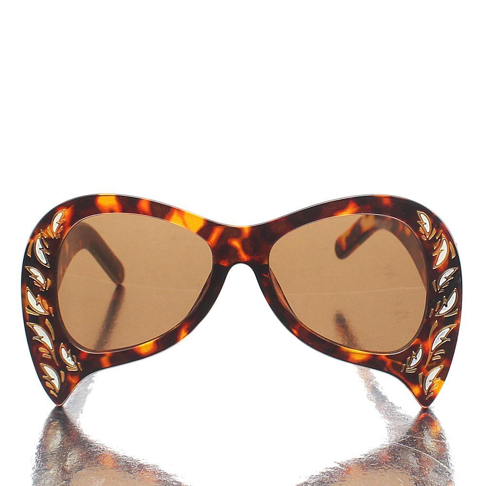 Pretty Brown Studded Cat-Eye Sunglasses