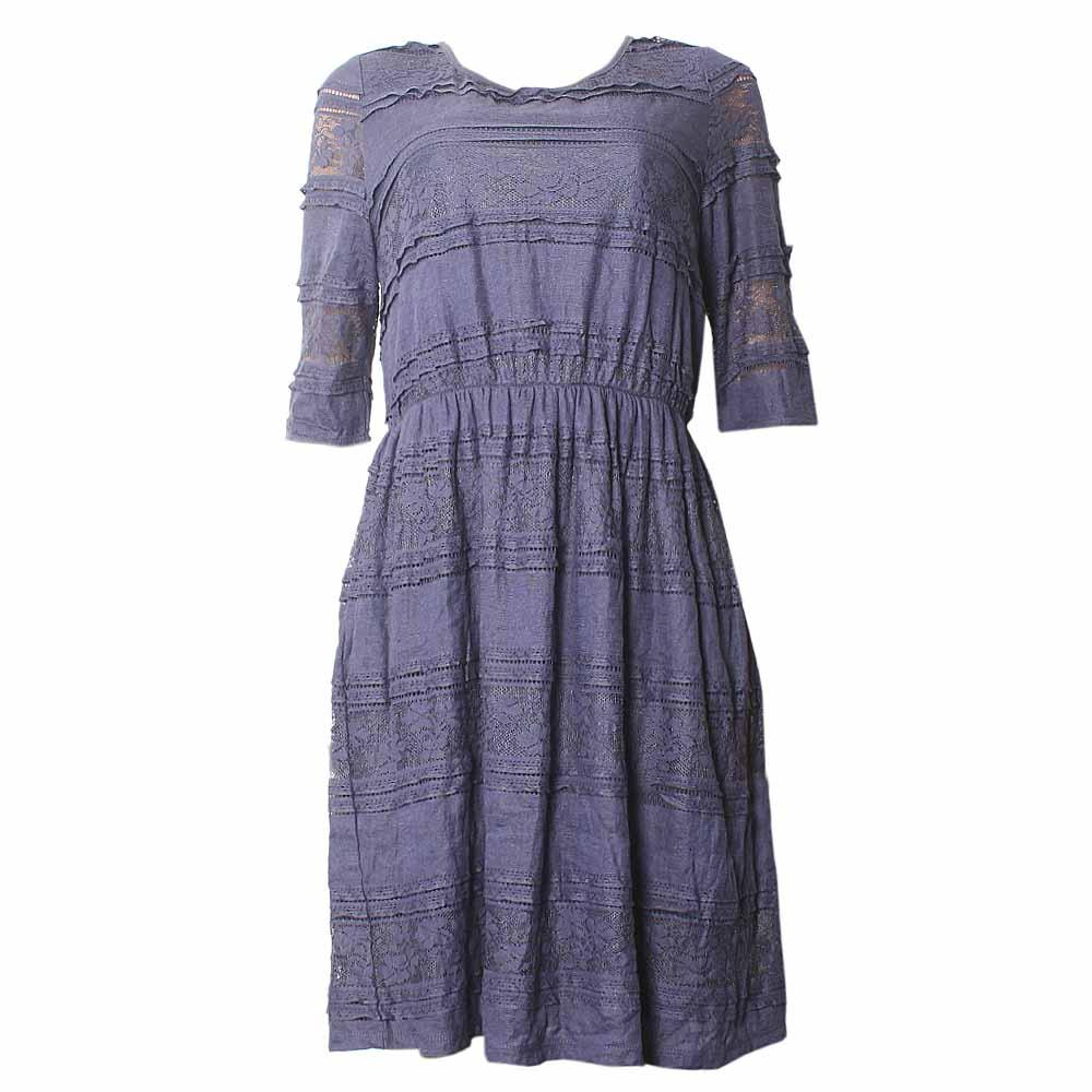 M&S Indigo Collection Navy  Ladies Dress-Uk 18