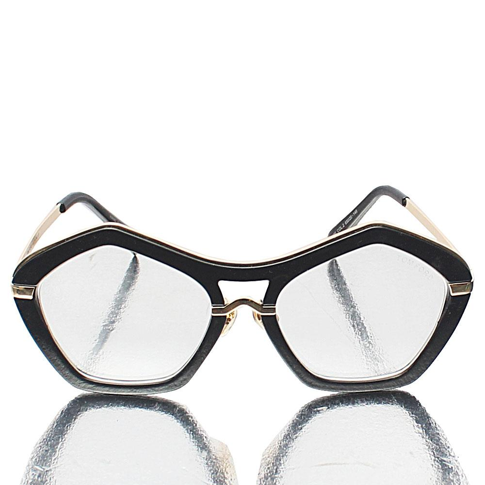 Black Hectagon Transparent Lens  Sunglasses