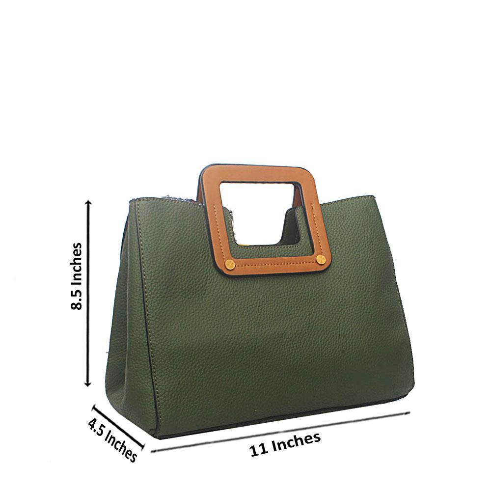 Green Miane Tandy Leather Small  Handbag
