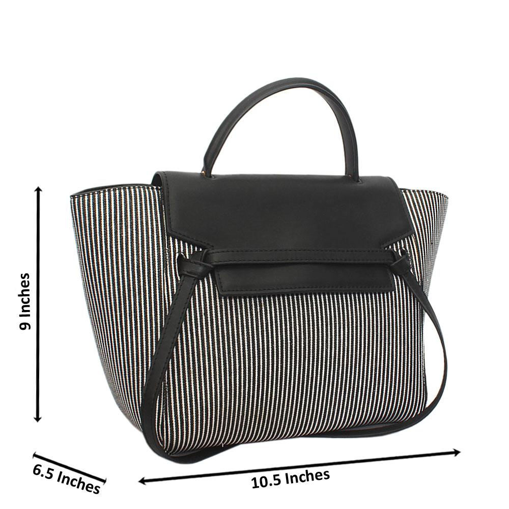 Monochrome Ciara Leather Top Handle Handbag (Store Display)