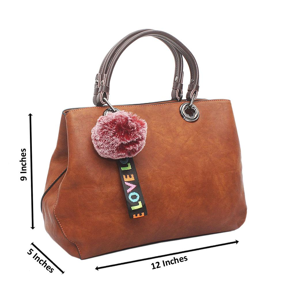 Brown Love Medium Leather Handbag