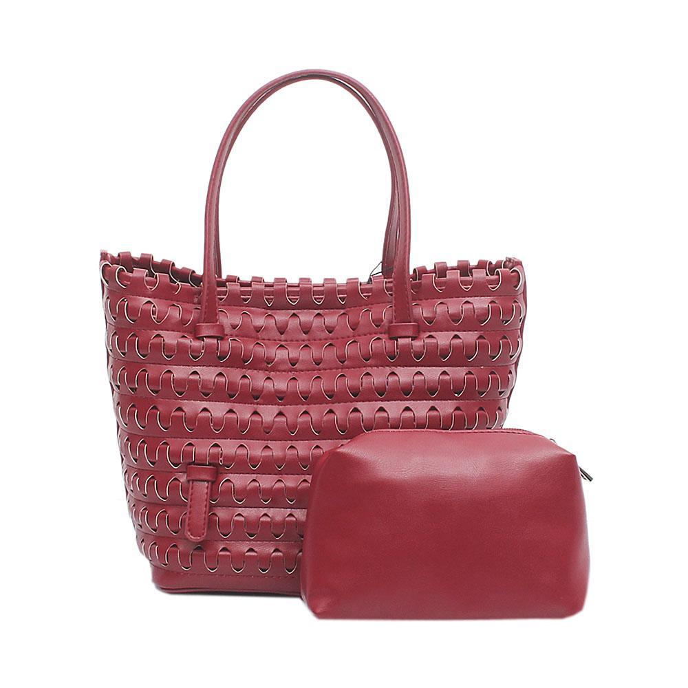 Candy Wine Leather Small Handbag Wt Purse