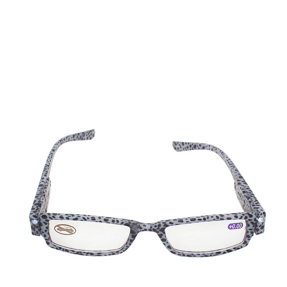 Leopard Skin Eyeglass Frame wt Torch/Extra Batteries